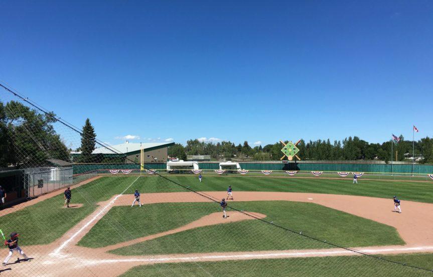 baseball field on a sunny day